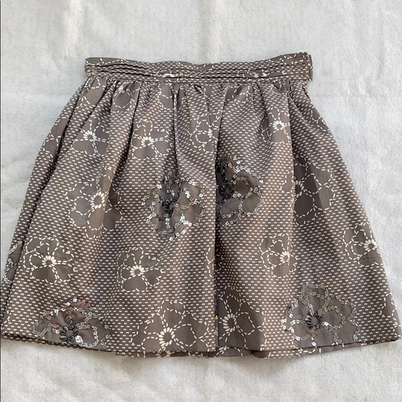 Shulami Dresses & Skirts - Shulami Skirt Flower Patterned with Sequins Size M